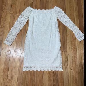 Fashion nova white lace off the shoulder dress
